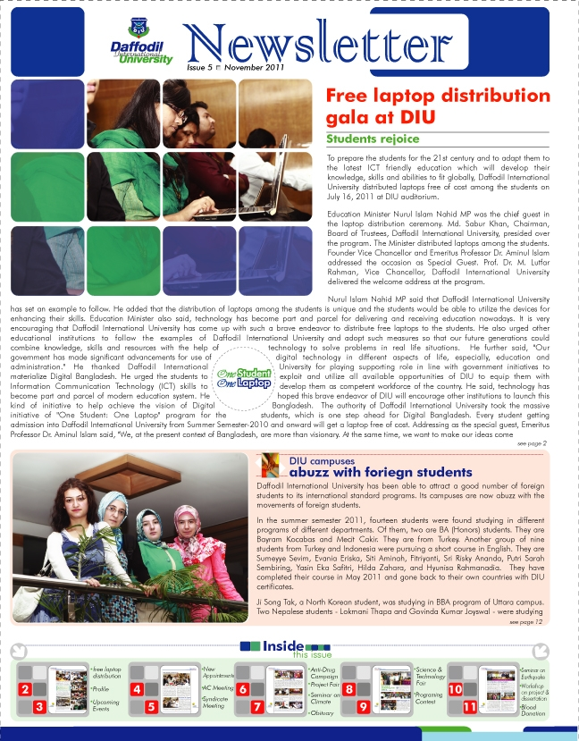DIU Newsletter Issue 5