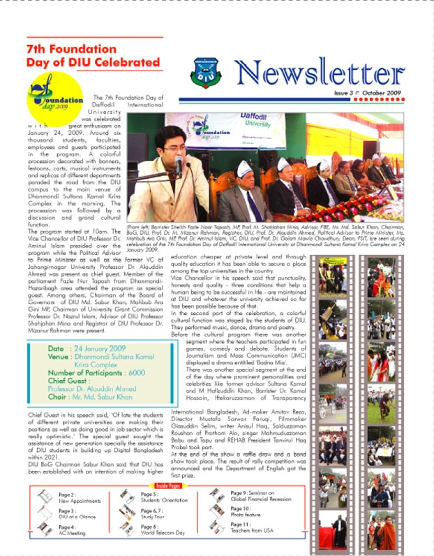 DIU Newsletter Issue 3